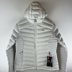 Womens Under Armour Goose Down Jacket Size LG Hood